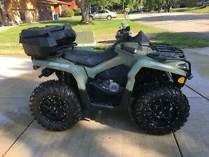 2017 Can Am Outlander 450 4x4 642 miles *One Owner