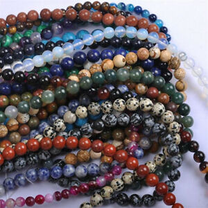 Wholesale-Fashion-Natural-Gemstone-Round-Spacer-Loose-Beads-Jewelry-Making-4MM