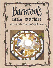 Bareroots Felt Craft Sewing PATTERN - 203 In The Woods Owl Candle Mat