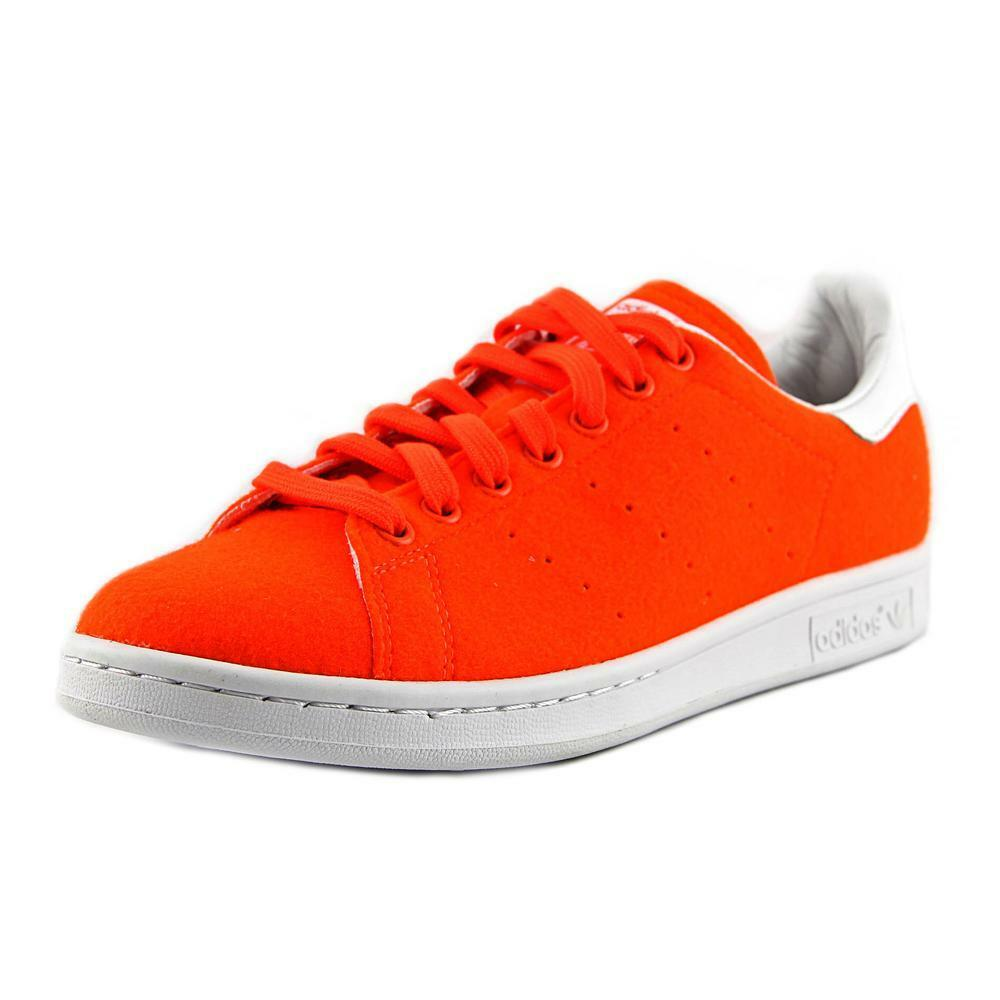 hot sale Adidas PW Stan Smith TNS Men Round Toe Synthetic Orange Sneakers fc8547c850a