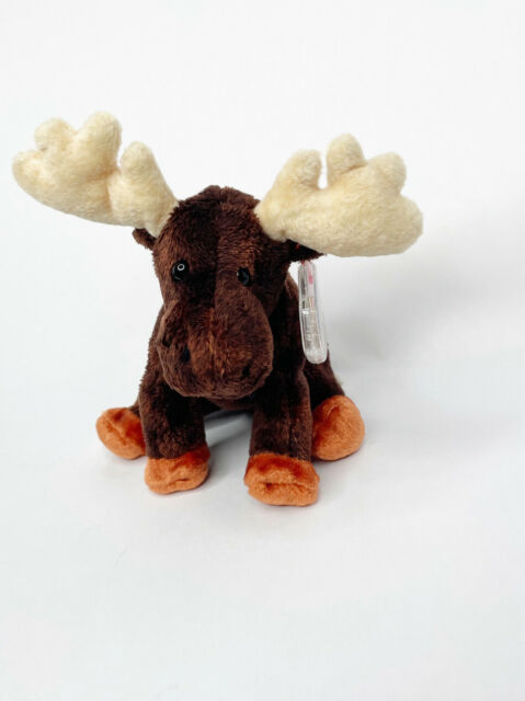 Ty Beanie Babies 10 Years Zeus The Moose With Protected Heart Tag 2002