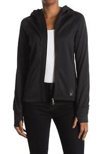 Womens Spyder Hayer Full Zip Jacket Hoodie Coat Fleece Lined Black S NWT/DEFECT