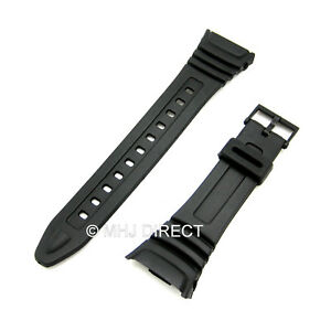 Generic-24-5mm-Black-Resin-Strap-Fits-Casio-Model-577EA1-W96H-Plastic-Buckle