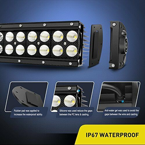 Nilight 32Inch 180W Curved LED Light Bar Combo Fog Lights for SUV Boat Jeep Lamp