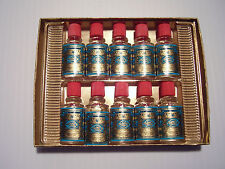 Colonge Vintage set of 10 Mini sealed bottles of Echt Kolnisch Wasser 4711