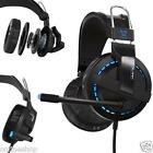 Blue Light Surround Stereo Pro Gaming Headphone Headsets With Mic For PC Laptop