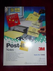 3M POST-IT NOTES STARTER KIT Y2010E For inkjet and laser printers 1996 4 floppys