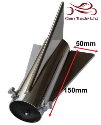 Moto Silencieux Échappement Fusée Tige Moto Universel Embout 48mm Diamètre