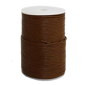 100m-Lederband-2mm-0-35-1m-Farbe-Braun-100-Meter-auf-Rolle-Spule