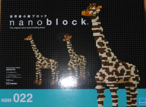 Giraffe Deluxe Edition Nanoblock Micro Sized Building Block Set Kawada NBM022