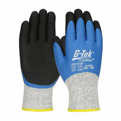 Hi-Vis Green G-Tek PolyKor Nitrile Coated Knit Work Gloves
