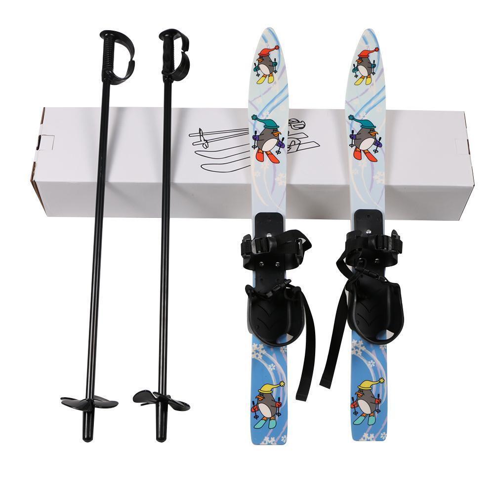 New Youth Kids Skis Board Junior 25'' Snowboa Ski Pole Winter Sport Gift