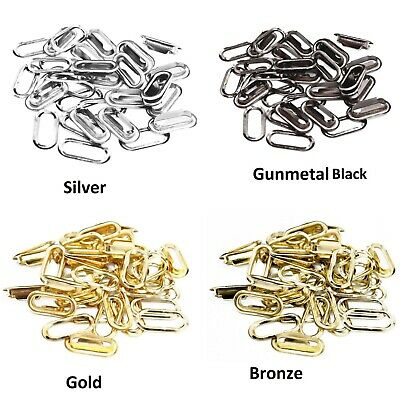 100pcs Brass Oval Eyelets Grommets Washers Buckles for Leather Arts /& Crafts UK