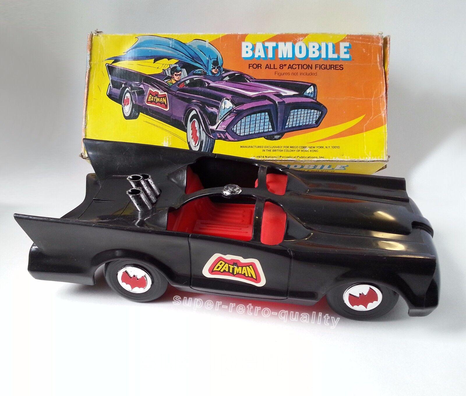 Mego Batman Bat-Móvil con Caja Original Década de 1970 Mego Original