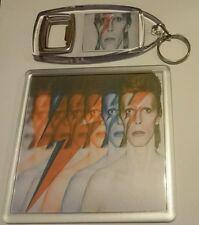 DAVID BOWIE COASTER & KEYRING SET cd dvd rare t shirt poster vinyl ticket
