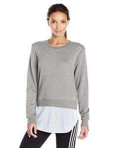 ceca799b4a1f8 adidas Women s Athletics Dual Layer Sweatshirt   L   Medium Grey ...