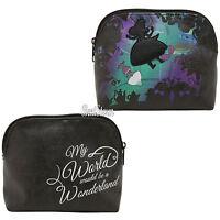 Disney Alice In Wonderland Falling Silhouette Makeup Cosmetic Bag Purse