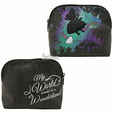 ad78cb6b1a44 Disney Alice in Wonderland Falling Silhouette Makeup Cosmetic Bag Purse NEW
