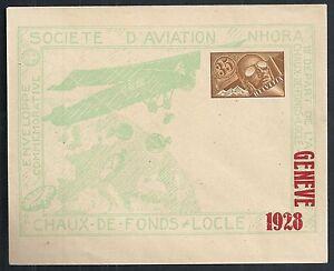 Switzerland covers 1928 1st Flightcover Chaux-de-Fonds-LOCCLE not sent