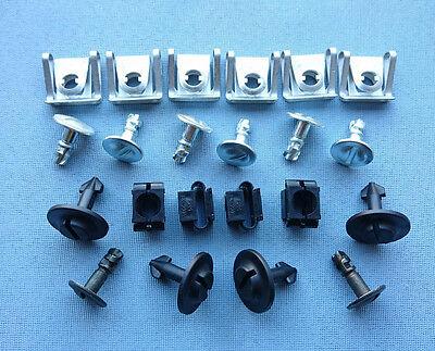 Set 22 tl. Unterfahrschutz Einbausatz Unterboden Repair Kit für Audi A4, A6, A8