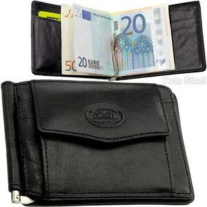 Tony-Perotti-Porte-Monnaie-Cuir-Cclip-D-039-Argent-Portefeuille-Pince-a-Billets-Neuf