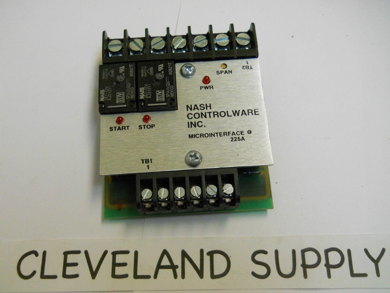 NASH CONTROLWARE 225A MICROINTERFACE MODULE  NEW CONDITION   NO BOX