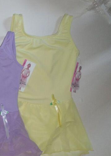NWT TANK GIRLS BALLET DANCE DRESS Lemon Body Wrappers 2235 PrincessAurora rostte