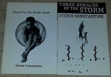 Storm Constantine SIGNED Dancer For the World's Death & Three Heralds of Storm