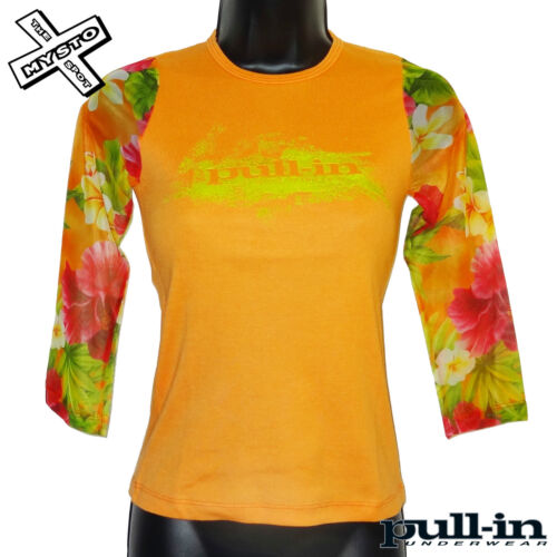 PULL-IN /'LUX TEE/' LONG SLEEVE SHIRT ORANGE RED PURPLE TOP X SMALL UK 6 RRP £42