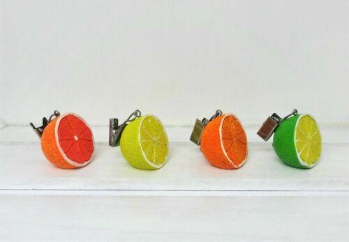 Tischdeckenbeschwerer Tischdeckengewichte 4er Set Sommer Orange Zitrone gelb