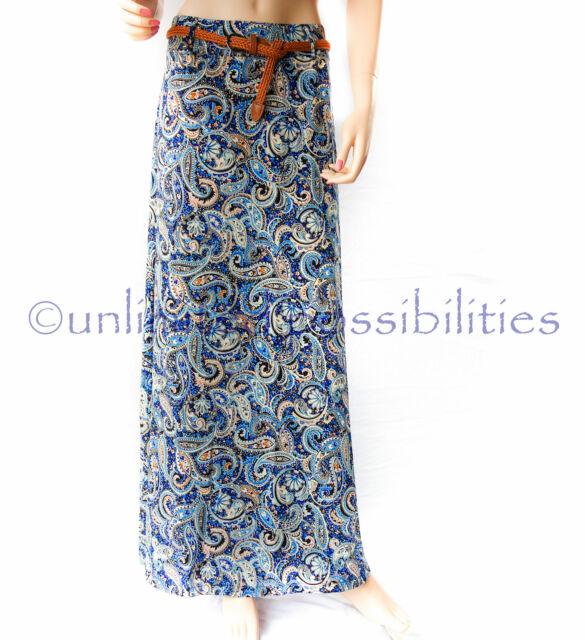 DOTTI Globe Trotter Maxi Skirt Multi Coloured New + Tags Size 10 SKU 498577