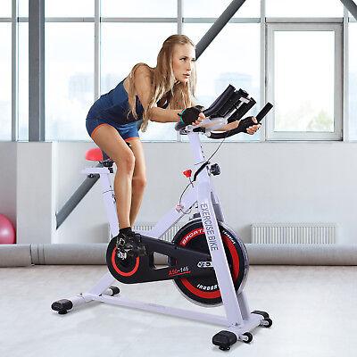 Bicicleta Estática de Spinning Bicicleta de Fitness Pantalla LCD Carga 120kg