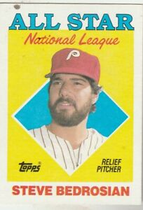 FREE-SHIPPING-MINT-1988-PHILLIES-Topps-407-Steve-Bedrosian-ALL-STAR