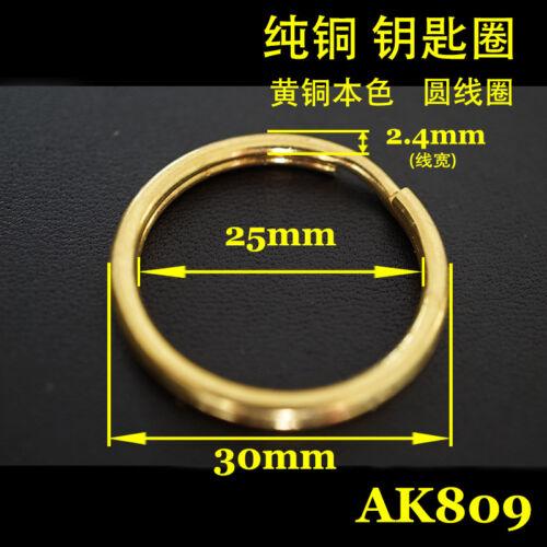 5X Quality SOLID BRASS KEY CHAIN Keyring Shackle Ring leathercraft handwork DIY