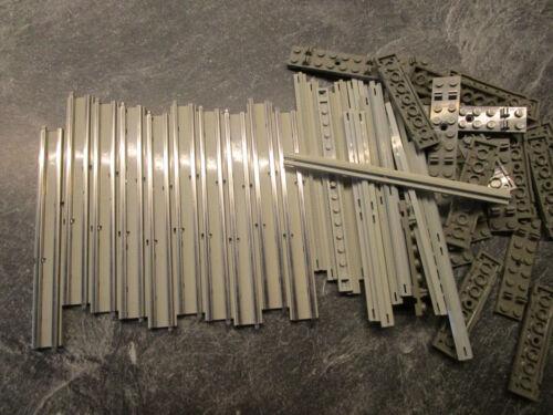 LEGO 12 v chemin de fer 10 rails droites complet