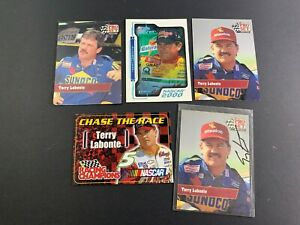 NASCAR-Trading-Card-Lot-of-5-with-an-AUTOGRAPHED-TERRY-LABONTE