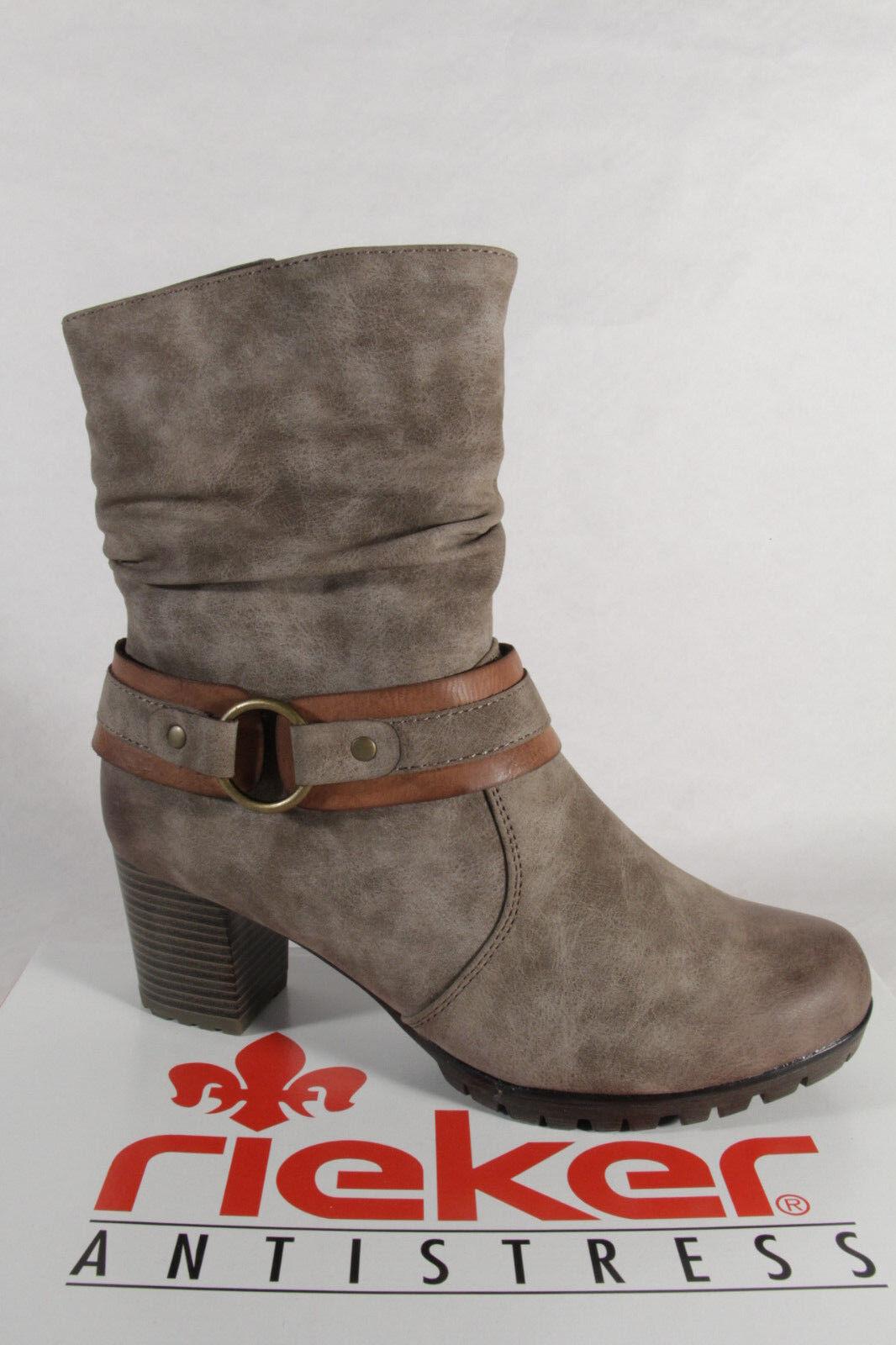 Rieker 98572 Women's Boots Ankle Boots grey zipper new