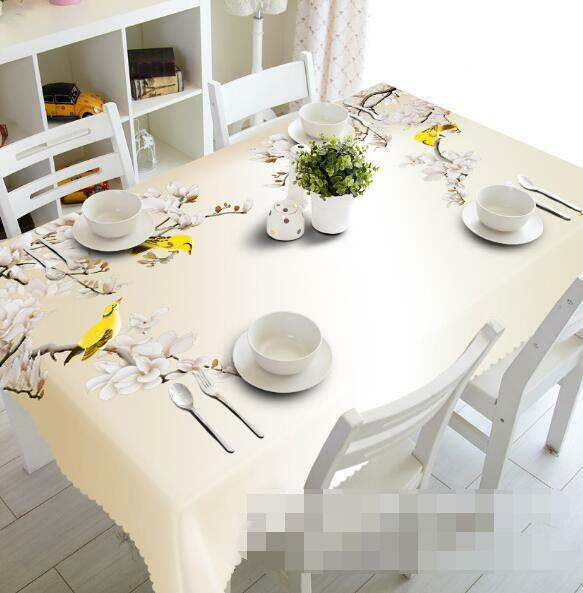 3D Flowers Birds Tablecloth Table Cover Cloth Birthday Party Event AJ WALLPAPER