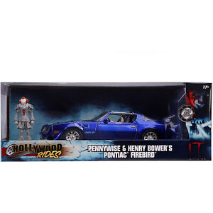 Jada-Toys-Hollywood-Rides-Pennywise-Bower-039-s-Firebird-Die-Cast-Set-NEW-IN-STOCK
