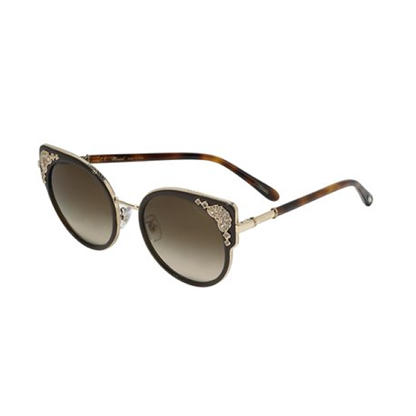 Chopard SCHC82S 0300 140 mm Shiny Rose Gold Women Sunglasses Round Authentic