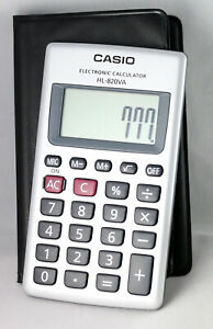 Casio-POCKET-Electronic-Calculator-HL-820LV-WE-Large-Display-8-Digit-LCD-WHITE