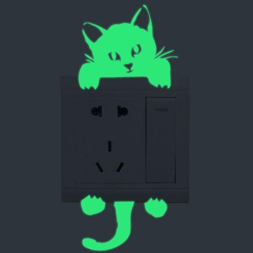 Cartoon Green-Light Switch Stickers Kids Baby Dark Glow Star Candle Home Decor