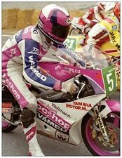 Postcard Yamaha TZ250 1988 #58 Wilco Zeelenberg (NED)