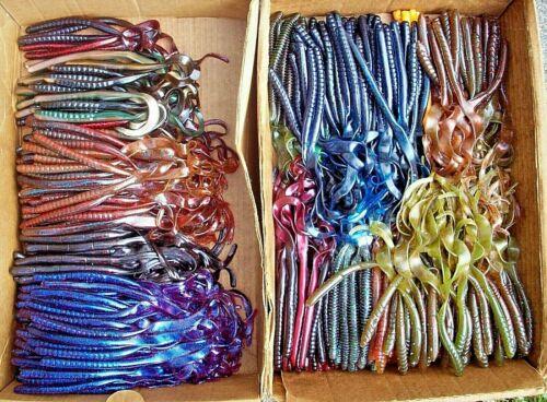 "25ct ASSORTMENT 9/&10/"" RIBBON WORMS Bass Fishing Lures EELS Soft Plastic Baits"