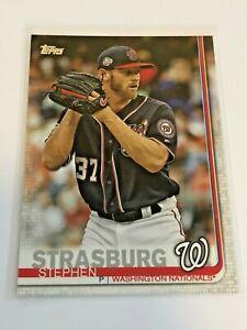 2019-Topps-Baseball-Base-Card-Stephen-Strasburg-Washington-Nationals