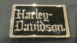 HARLEY-DAVIDSON-MEN-039-S-NIGHT-STALKER-BLACK-CHROME-BELT-BUCKLE-97796-07V