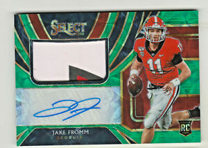 2020-Chronicles-SELECT-AUTO-PATCH-GREEN-PRIZM-JAKE-FROMM-RC-Rookie-21-25-Bills