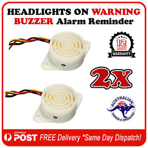 2pcs-Car-Van-Truck-Headlight-ON-Warning-Buzzer-Alert-FREE-POSTAGE