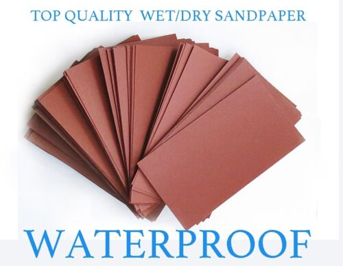 "SANDPAPER 100 pc 3/"" X 5 1//2/"" 180//220//320//400//600//800//1000//1200//1500//2000 Grit"