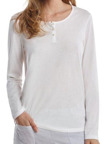 Marc O/'Polo Damen Schlafanzugshirt Shirt Langarm 1//1 mit Knopfleiste 160864